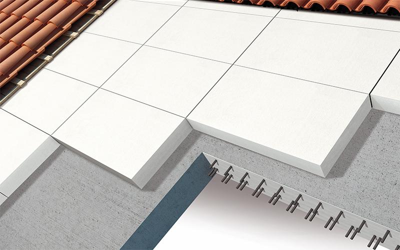 Isolamento tetto a falda inclinata con struttura in calcestruzzo