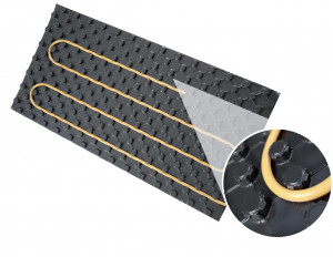 pannello per riscaldamento a pavimento in eps Forma di Isolconfort