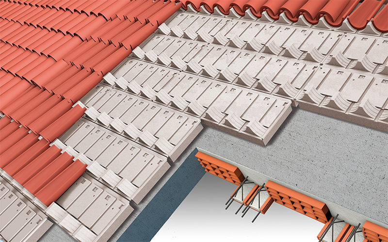 Isolroof coppi pannelli per isolamento sottocoppi for Tettoia inclinata del tetto
