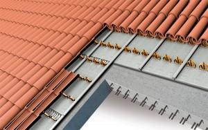 Isolamento per copertura a falda inclinata con struttura in calcestruzzo