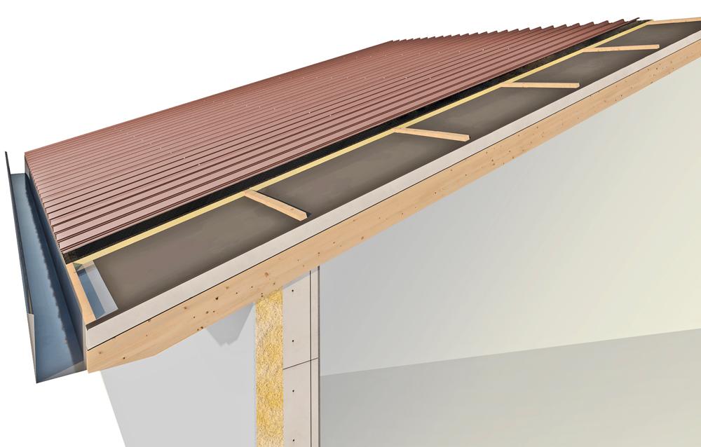 isolamento acustico tetto con copertura in lamiera cover rw isolconfort