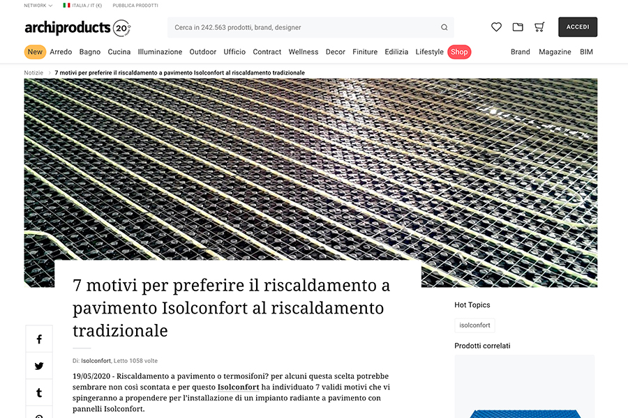 rassegna-stampa-archiproducts-riscaldamento-a-pavimento-isolconfort