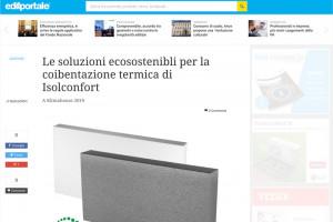 rassegna stampa edilportale soluzioni per la coibentazione termica isolconfort